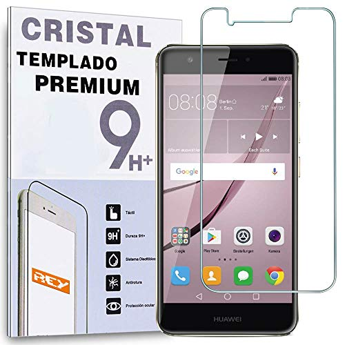 REY Protector de Pantalla para Huawei Nova Plus/Huawei G9 Plus, Cristal Vidrio...