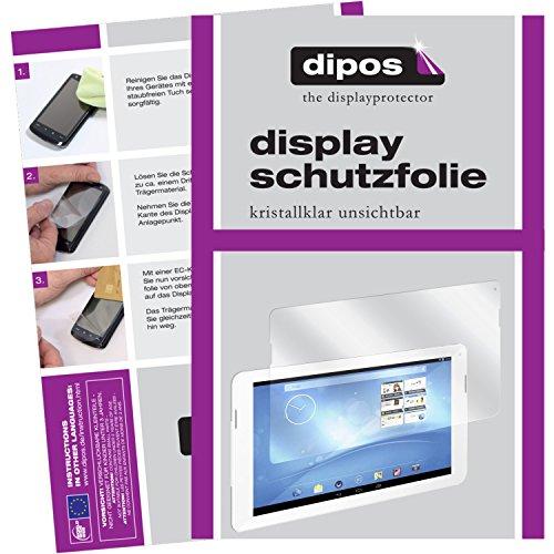 dipos I 2X Schutzfolie klar kompatibel mit Trekstor Surftab Breeze 10.1 Quad Folie Bildschirmschutzfolie
