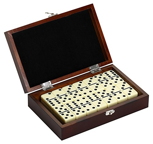 Hathaway Premium Domino Set w/Wooden Carry Case Premium Domino Set...