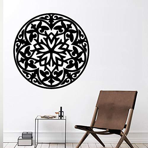 LSMYE Mode Mandala Vinyl Wasserdichte Wandkunst Aufkleber Vinyl Aufkleber Raumdekoration Aufkleber Wohnzimmer Schlafzimmer Dekor Gelb L 42cm X 42cm