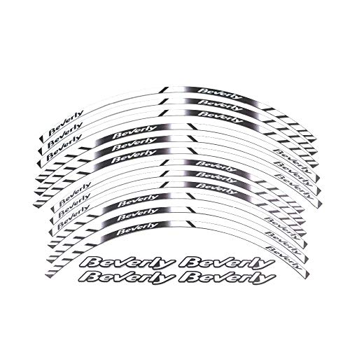 Etiqueta engomada Reflectante del Borde Grueso de la Motocicleta Yi calcomanía para Todos Piaggio Beverly 125 250 350 500 16'14' Pegatinas para Moto (Color : A 5)