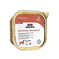 Dietary food for food allergy management. Indicated in dogs suffering from diarrhoea of the small intestine. Beneficial effect on the regulation of intestinal transit.