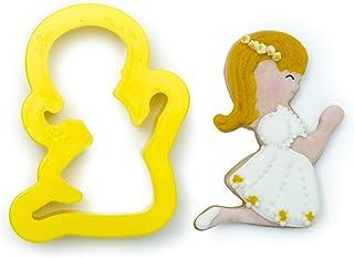 DECORA 0803038coupoir Communion Girl Small 8x 6x 2cm Plastic Yellow 8x 6x 2cm