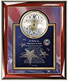 AllGiftFrames Military Retirement Gift Service Award Personalized Clock Poem USAF Army USMC Navy Soldier Sailor Air Force Airman Poetry Discharge Going Away Homecoming Retiree Plaque