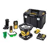 DeWalt DCE079D1G-QW Niveau Laser Rotatif Double Pente intérieur/extérieur XR 18V 2Ah Li-IONFaisceau Vert-DCE079D1G, Autre