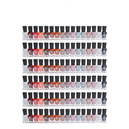 Display4top expositores de acrílico Transparente para esmaltes de uñas, con Efecto Flotante, Organizador acoplado a la Pared,6PCS