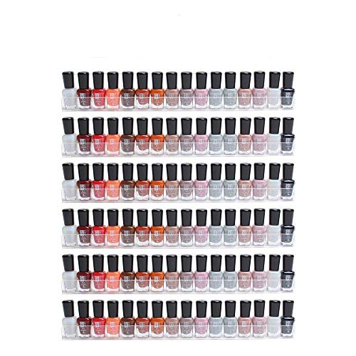 Display4top 6 Pack Of Clear Acrylic Nail Polish Rack, Kids...