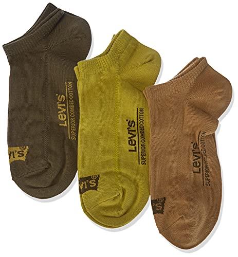 Levi s Low Cut Batwing Logo Socks Calcetines, Poudre, 35-38 (Pack de 3) Unisex Adulto