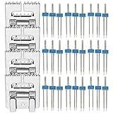ミシンアクセサリー、プラスチックボックス押え金付き18個+ 4個、ミシン交換用小型ステンレス鋼