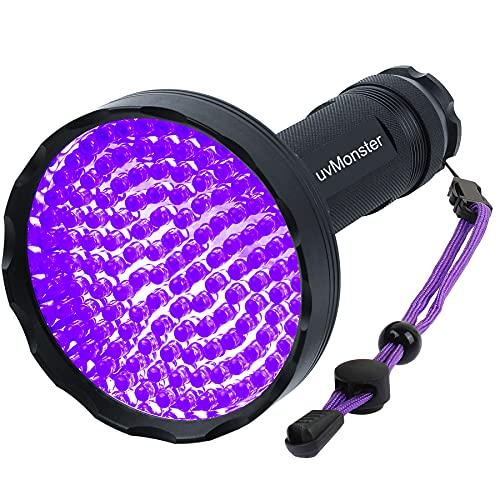 UV Blacklight Flashlight, Super Bright 128 LED Pet Dog Cat Urine Detector light Flashlight for Pet Urine Stains, UV Black light Flashlight for Bed Bugs, Scorpions Hunting
