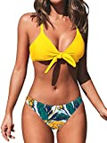 CUPSHE Women's Floral Print Knot Adjustable...
