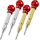 4 Pieces Automatic Center Punch 5 Inch Center Hole Punch Adjustable Spring Loaded Metal Drill Tool for Wood, Metal, Plastic...
