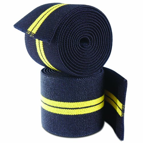 CAP Barbell Elastic Knee Wraps, Pair
