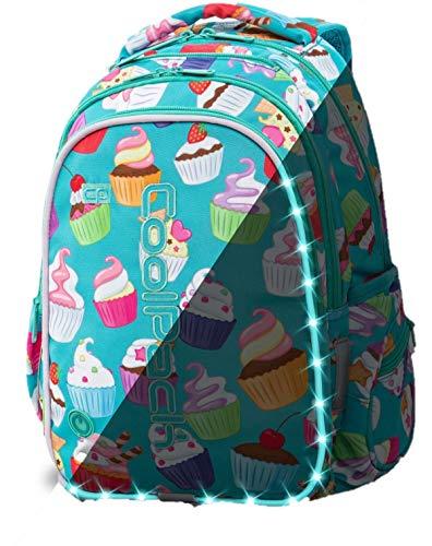 Morral de la Escuela lumniscient Las niñas Primer Mochila LED Pack Tech Bag Cancum-Patrón 23 L Joy M Cupcakes [006]