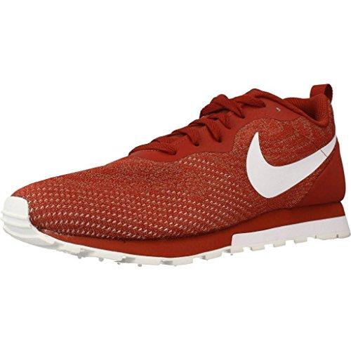 Nike MD Runner 2 Eng Mesh, Zapatillas Hombre, Rojo (Mars Stone/Sepia Stone/White 602), 42 EU