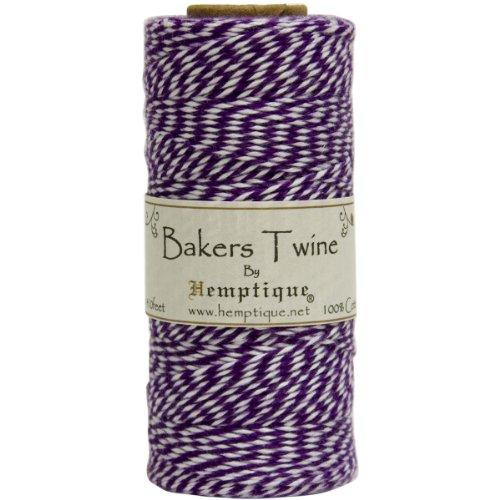 Hemptique BTS2PUR-W Baker's Twine Spool, Purple and White