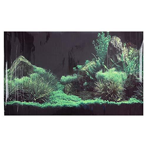 Beau Motif de Corail Couleur Vive Fond d'Aquarium Autocollant sous-Marin Aquarium Décorations Murales Autocollant 122 x 46 cm