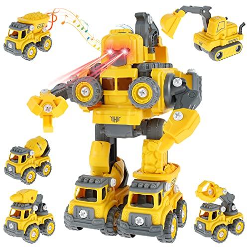 Bagger Spielzeug 5 in 1 DIY Demontage...