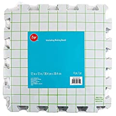 Includes (4) interlocking crochet, needlepoint, and knitting blocking boards. Each board measures 12'' x 12''. Perfect for beginners and experts alike, these interlocking blocking boards with grid lines make knitting accurate and perfect projects fas...