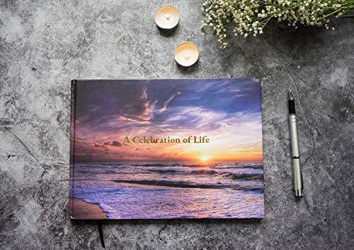 LIFETOO Ocean Funeral Guest Books Celebration of Life Guest Books, Memorial Service Guest Book Sign for Funerals | Guest Book for Funeral, Guests Sign in Book Memory Book for Funeral Guest Registry