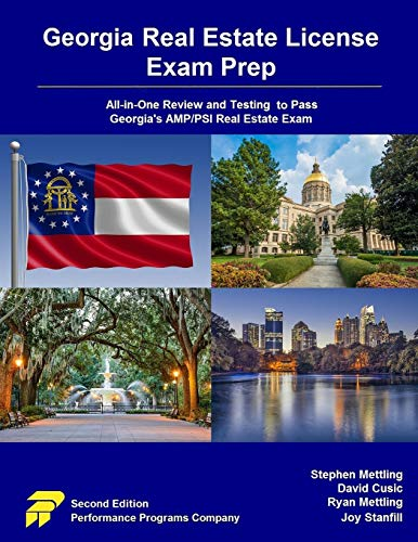 Compare Textbook Prices for Georgia Real Estate License Exam Prep: All-in-One Review and Testing to Pass Georgia's AMP/PSI Real Estate Exam  ISBN 9780915777389 by Mettling, Stephen,Cusic, David,Mettling, Ryan,Stanfill, Joy