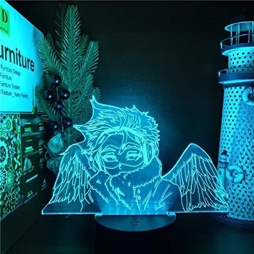 Personaje de dibujos animados lámpara de mesa 3D multicolor LED luz de noche decoración de acrílico regalo de vacaciones