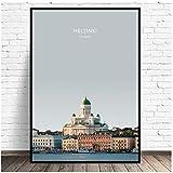 SWXXLY Poster Helsinki Finnland Reise Leinwand Malerei