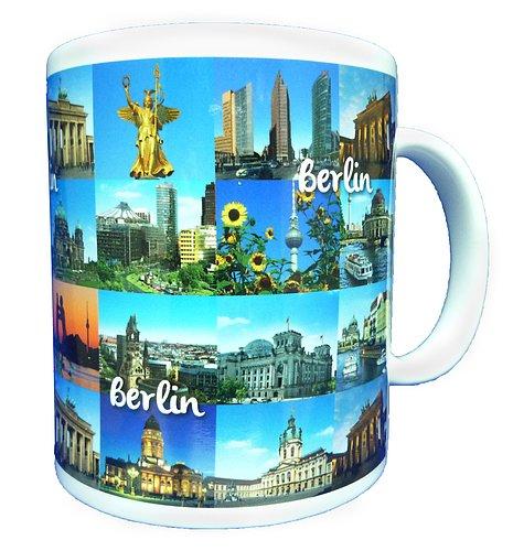 Dresden Onlineshop Motiv-Tasse Berlin Sehenswürdigkeiten Collage Kaffeetasse Krug mit Henkel Keramik Tasse mit 250ml Füllmenge Berlin-Andenken