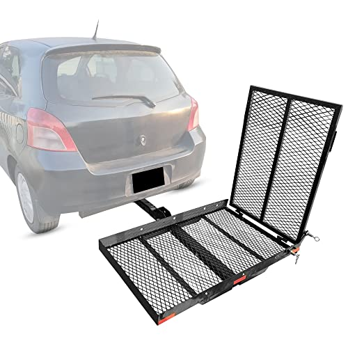 New Mobility Hitch Mounted Carrier For Wheelchair Electric Scooter Medical Disability With Rack Ramp - 400 lbs