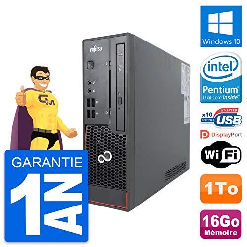 Fujitsu Mini-PC Esprimo C720 SFF Intel G3220 RAM 16 GB Festplatte 1 TB Windows 10 WiFi (überholt)