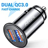 AINOPE USB Car Charger, [Dual QC3.0 Port] 36W/6A [All Metal] Fast Car Charger Mini Cigarette Lighter Usb...