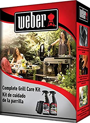 Bryson Industries Weber Grill Cleaning Kit - BBQ Grid and Grill Grate Cleaner Spray, Exterior Cleaner, and Scrubber with 3 Grill Scrubber Pads (16 oz Each)