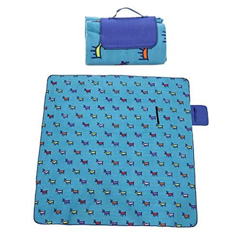 CTO Outdoor gesteppte Picknick-Decke für Wild Camping, Zelt Kissen, Mittagessen Kissen, Mittagspause Kissen, tragbaren Klappgriff, 200 x 200 cm