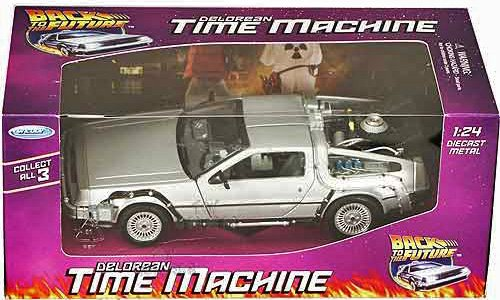 Zurück in die Zukunft / Back to the Future - Teil 1 - Delorean Zeitmaschine - 1:24 Die Cast Replica - Highly Detailed /detailgetreu