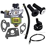 Carburetor with Gaskets Fuel Line,22mm Twist Throttle Handle Grips with Grip Cable for 2.8hp Mb165 Mb200 5.5 6.5hp 196 200cc Mini Baja Doodlebug Doodle Bug Db30 Dirt Pit Mini Bike
