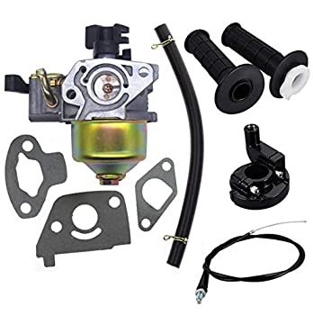 Db30 Carburetor with Gaskets Fuel Line 22mm Twist Throttle Handle Grips with Grip Cable for 2.8hp Mb165 Mb200 5.5 6.5hp 196 200cc Mini Baja Doodlebug Doodle Bug Db30 Dirt Pit Mini Bike