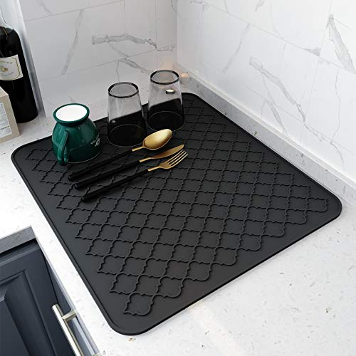 """Dish Drying Mats for Kitchen Counter,Eco friendly,Heat Resistant Mat 16"""" x 18"""""""