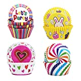 Meilo 400pcs Caissettes Cupcake - Caissettes en Papier pour Muffin Cupcake, Caissettes de Pâtisserie, Caissettes Papier Muffins Moule,Caissettes de Décoration pour Cupcakes