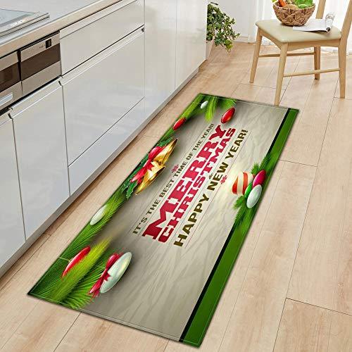 XIAOZHANG Hallway Long Carpet Rug Runner Creative christmas texture Crystal velvet door mat indoor outdoor carpet corridor floor bedroom living room study rugs Non-slip absorbent 40x120CM