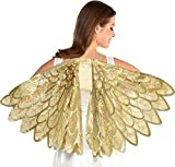 amscan Gold Feather Light-Up Wings | 1 Pc.