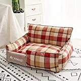 Kennel Dog Bed 2020 Pet Dog Cat Bed Universal Removable And Washable Kennel Summer Mat Creative Pet Supplies L-65Cm-55Cm D