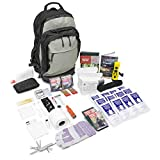 Urban Survival Bugout Bag 2 Person/Go Bag for Earthquakes Hurricanes and Other Disasters (Grey Tactical Backpack, 2 Person)