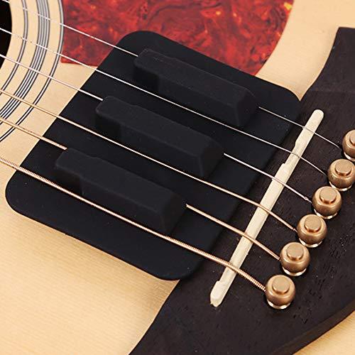 Silenciador para guitarra, silenciador de silicona, color negro Tamaño libre negro
