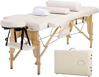 Massage Table Massage Bed Spa Bed 73 Inches Long Height Adjustable W/Sheet Cradle Bolster Portable 2 Folding Massage Salon Table Hanger Facial Tattoo Salon Bed
