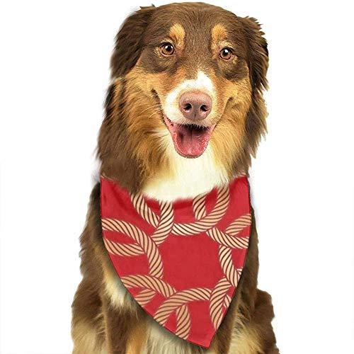 YAGEAD Pañuelo para Perros Cachorro y pañuelos para Mascotas, sin Fin Cuerda Dorada Nudos Chinos en Rojo Eterno Asiático Círculo Celta Nube Bufanda para Mascotas