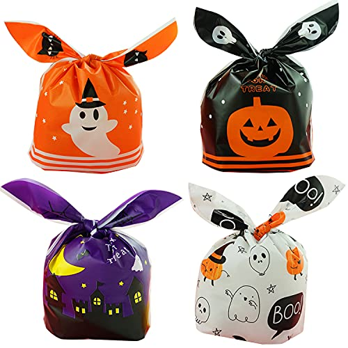 PITHECUS ハロウィン お菓子袋 プレゼント ギフトバッグ ラッピング袋 贈り物 子供 準備簡単 24枚セット