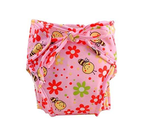 [Cute Bee] Infant Swim Diaper with Ties, réglable et élégant, taille Medium