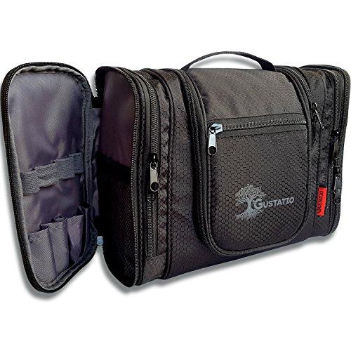 GUSTATIO - Premium Kulturbeutel - XXL Kulturtasche - Große Waschtasche zum Aufhängen mit vielen Fächern & Stauraum für Reisen, Camping und Outdoor - Ultra leicht