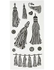 """Inkadinkado Tassels Clear Stamps Sheet, 4"""" by 8"""""""
