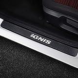 SLONGK Para Suzuki Ignis, 4PCS / Set Car Styling Pegatinas de umbral de Puerta de Coche Protección contra arañazos Calcomanías de Fibra de Carbono automática Accesorios para Tuning de Coche